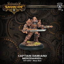 Mercenary Warcaster Captain Damiano
